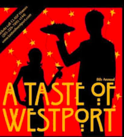 The official logo for the festival, Taste of Westport, features two silhouettes dining together.