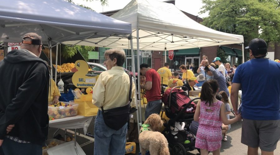 The+11th+annual+Great+Duck+Race+was+held+by+the+Westport+Sunrise+Rotary+at+Parker+Harding+Plaza+on+Saturday%2C+June+1.+All+funds+raised+by+the+event+go+to+charities+such+as+ABC%2C+the+Caroline+House+and+Al%E2%80%99s+Angels.+
