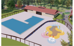 Changes to Camp Mahackeno include the construction of a new pool, swim pad, and pool house