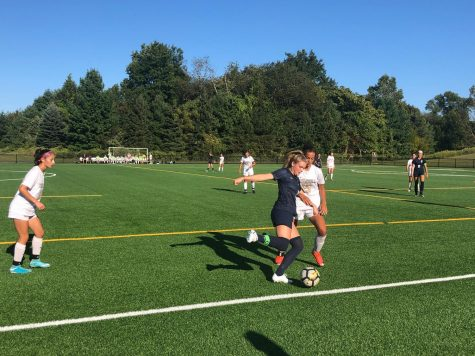 After a successful preseason and start to their season, varsity girls' soccer defeated Trumbull High School in a 6-3 win at the highly attended game at Wakeman field on Wednesday, Sept. 25.
