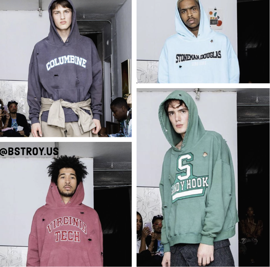 Images of hoodies posted on the brands Instagram page on Sept. 15.
