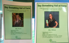 Sandy Hook promise posters posted around school promote school safety