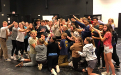 Staples Players rehearse for the play of Mamma Mia
