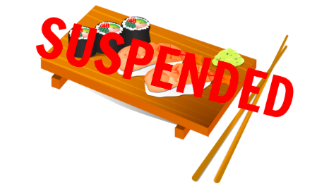 Matsu sushi closes due to sales tax suspension