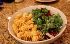 A vegan kale salad and pasta, the perfect plant based vegan dinner!