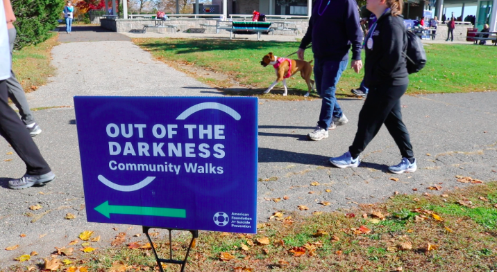 The+Out+of+the+Darkness+walk+located+at+Sherwood+Island+State+Park+helped+raise+money+to+prevent+suicide.+