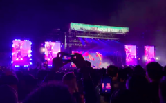 People dance at the rap music festival Rolling Loud at Citifield on Oct. 13.