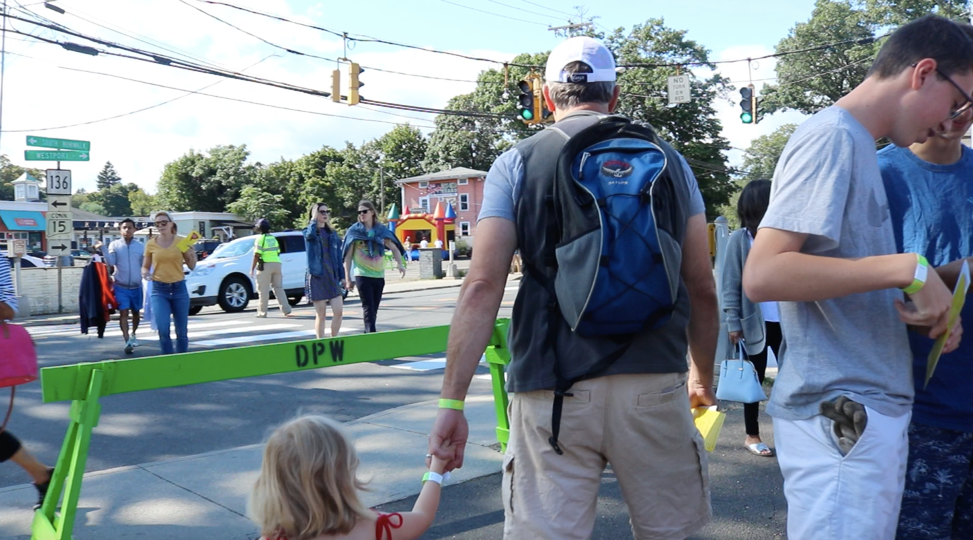 The Slice of Saugatuck was both a kid and adult-friendly festival. All ages found something that interested them. The festival-goers walked with smiles on their faces and food in their hands.