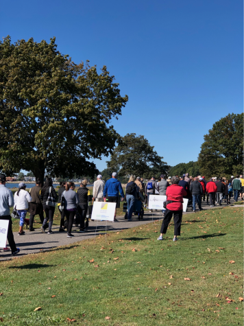 Participants of the Parkinson's Optimism Walk 2019 as they begin strides to a cure on Oct. 5.