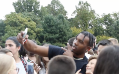 Rapper and hip hop artist Yalee made an appearance at Wakeman fields after school on Thursday, Sept. 27. Yalee has 15,000 monthly listeners on Spotify as well as fans at Staples High School and Bedford Middle School. Students gathered to welcome Yalee at the fields.
