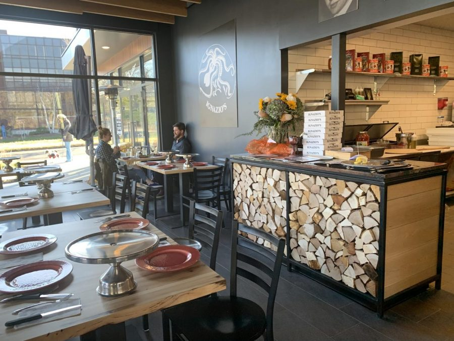 Ignazio's is not only a sit-down restaurant, but it also has takeout. The restaurant is designed modernly, but it portrays a similar look to the Ignazio's in Brooklyn.