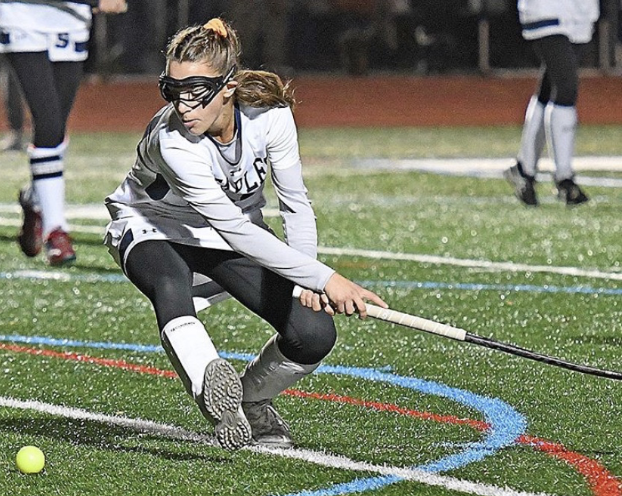Jess Leon '22 in full speed during the semifinals game against Norwalk at Weston high school for the win. Staples beat Norwalk to advance to the state championship.