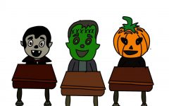 Students and staff express enthusiasm for Halloween through school traditions