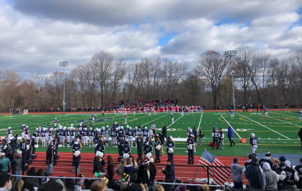 On+Nov.+28%2C+Staples+Wreckers+played+the+Greenwich+Cardinals+for+their+annual+Thanksgiving+game.+Ending+with+a+38+-+41+score%2C+the+Wreckers+close+their+season+with+a+2-8+record.