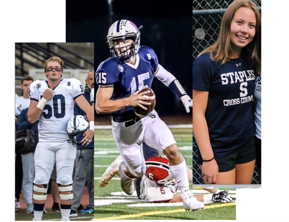 Senior students, athletes, and leaders shown as they participated in their fall sports (Ben Howard, Jake Thaw, Abby Carter). From this week on, they will be making large transitions into their winter sport, all ready and excited to begin.