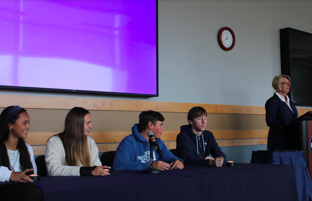Staples German students compete in the quiz bowl at UConn on Nov. 14.