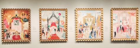 The Metropolitan Museum of Art featured many vivid and colorful artists, such as this collection of paintings by Florine Stettheimer. Here, she depicts the economic, social and cultural institutions of New York.