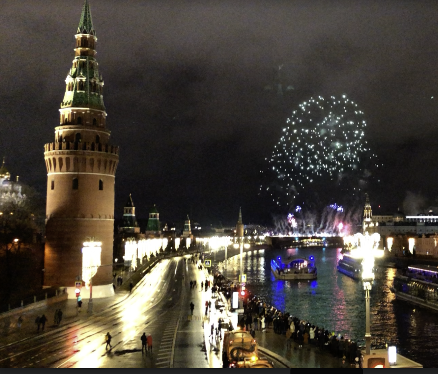 As New Years is a very significant part of Russian culture, fireworks could be heard for many nights after the holiday.