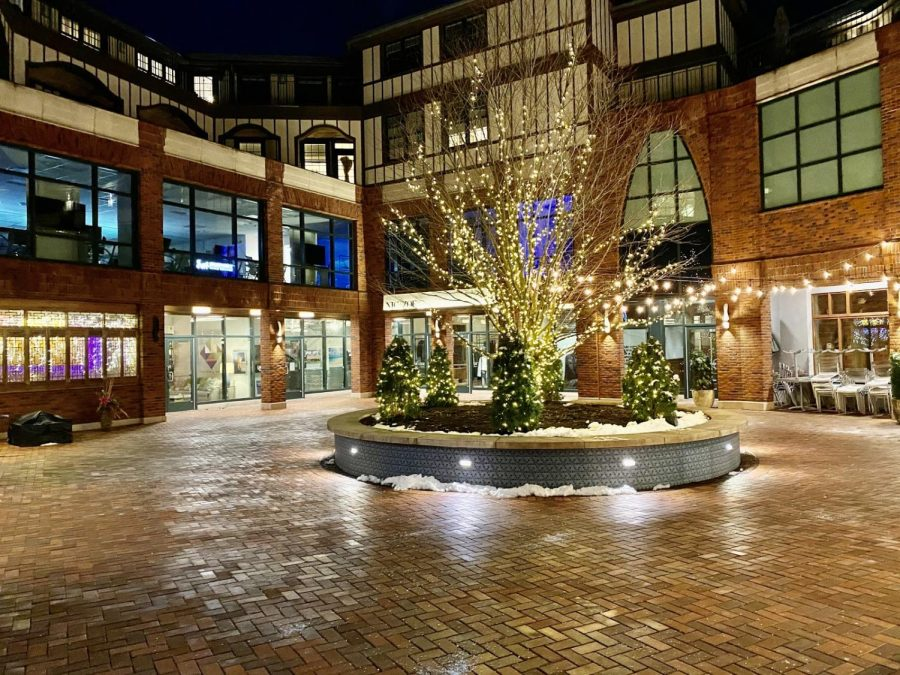 Bedford Square features shops and restaurants in downtown Westport. The retail center has faced multiple closings this past year.