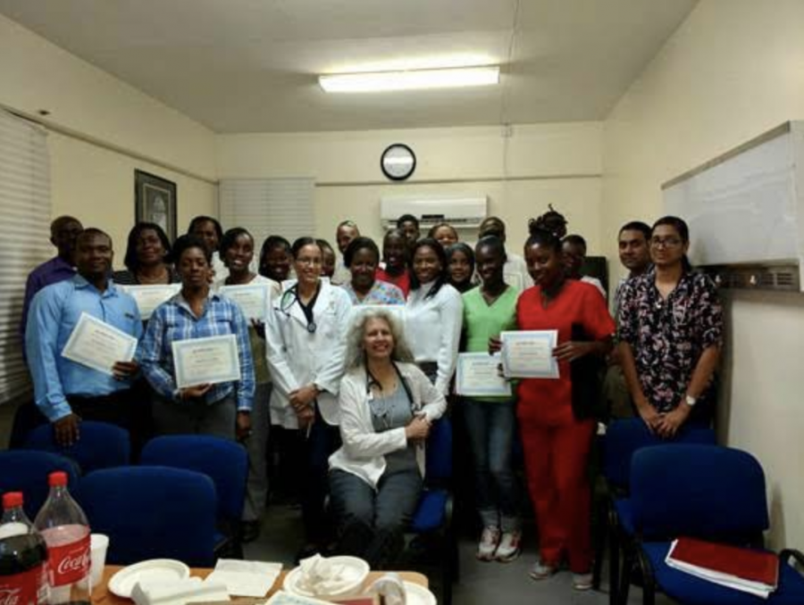 Radiology+specialists+volunteering+with+Rad-Aid+help+educate+other+doctors+on+Grenada+in+order+to+create+an+effective+radiology+program.