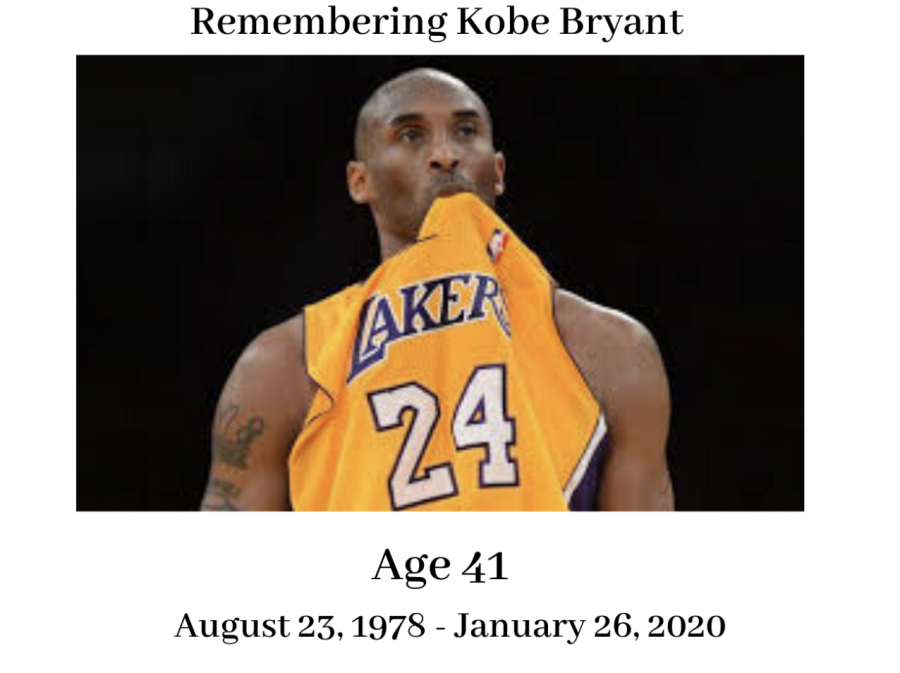 Kobe+Bryant+died+after+his+helicopter+crashed+in+the+hills+of+Calabasas+California.+Many+will+remember+the+great+legacy+of+the+athlete.+%0A