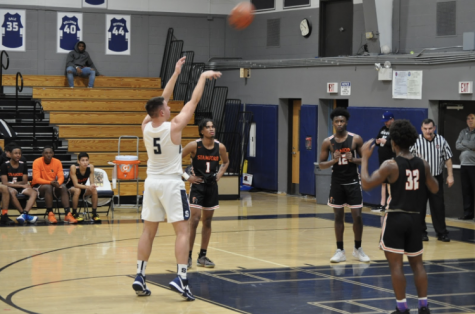 A.J. Konstanty '20 takes a free throw after being fouled.
