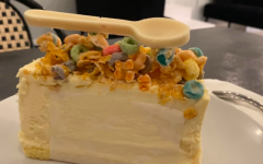 Chez 180 opened on Feb. 4 in downtown Westport.  The cafe serves a myriad of different treats, such as a slice of the Cereal and Milk cake pictured above.