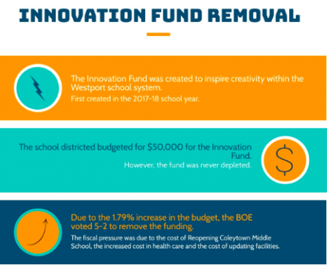 The Board of Education (BOE) voted 5-2 to remove the Innovation Fund funding for the 2020-21 school year in a 5-2 vote during their meeting on Feb. 10 to reduce the budget and because of the lack of applicants.