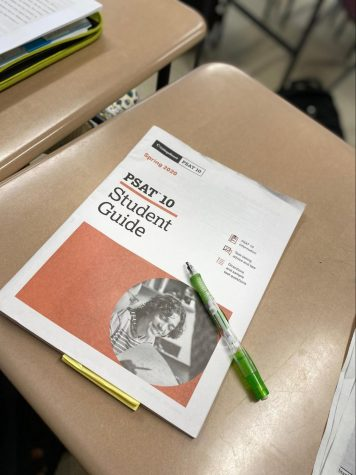 With the PSATs coming up, students try their best to study using the student guide that was given out during the connections period.