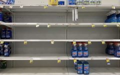 Shelves at Stop & Shop are now nearly empty due to people hoarding supplies.