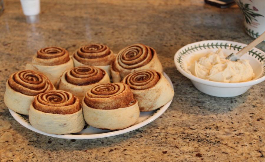 Homemade cinnamon rolls serve as great breakfast option