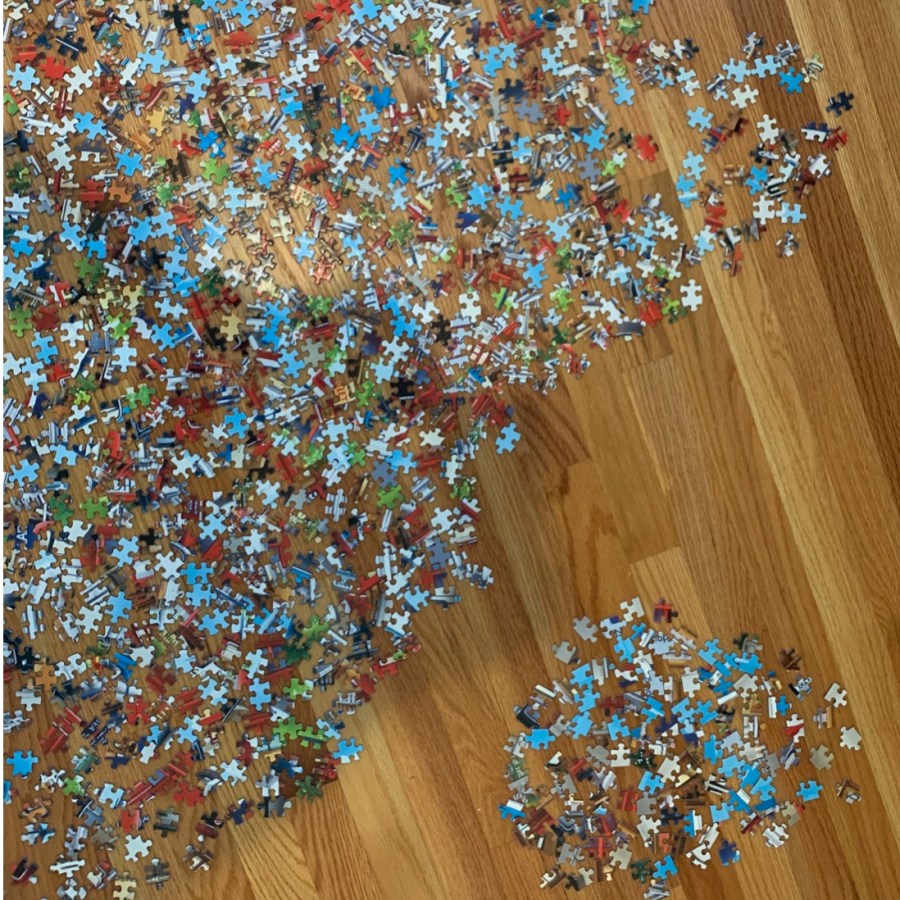 A picture says 1000 words: guide to completing 1000 piece jigsaw puzzle