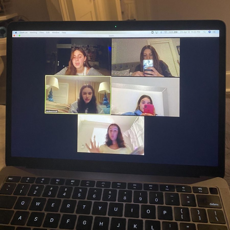 The application Zoom allows many people to video chat at once and is a great way to stay in touch with friends. Many students have been using this and find it effective.