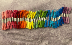 Friendship bracelets are a fun way to pass time during quarantine. There are so many colors to choose from, and you can give them to friends and family.