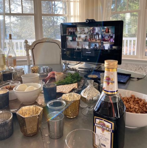 Due to the current pandemic, families will be celebrating Passover Seder with family and participating in traditional services virtually, utilizing platforms like Zoom.