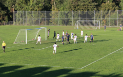 The Wreckers attempt to score in the second half but are shut down by Danbury goalie Matt Silva.