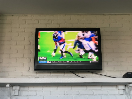 NFL Redzone running seven hours of commercial free football as Staples students tune in.