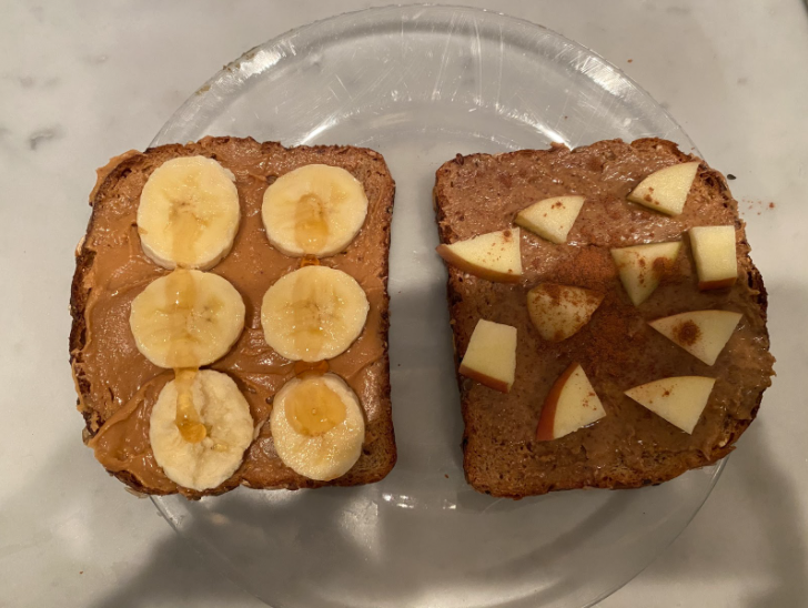 Almond butter and peanut butter toast is the perfect before school breakfast, because it is so quick and easy to make yet so filling and healthy.