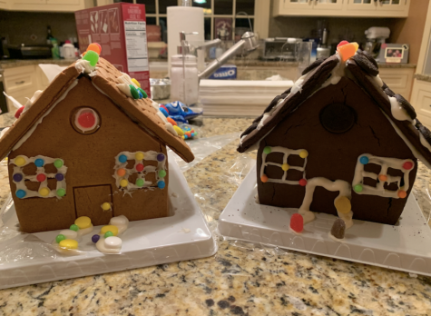 Creating gingerbread houses is a fun and festive activity to do with friends. At the end of the decorating session take to social media to ask others what they think of the houses to see who won the competition.