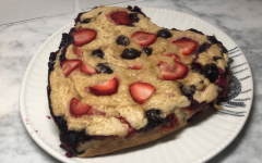 This fresh and fruity cake recipe requires minimal effort, and can be made in less than an hour's time.