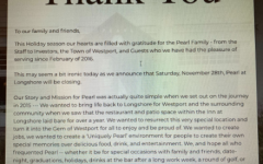 Shortly after The Pearl shut its doors on Nov. 28, this message was put up on their website to thank all of its long time customers and supporters.