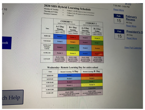 The current hybrid model consists of two cohorts, cohort A going to school on Mondays and Tuesdays and cohort B going in on Thursdays and Fridays. Wednesdays act as a remote learning day for everyone. The district will be moving forward with a new 75% model starting in March.