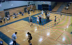 Screenshot of the Staples' girls basketball playing their fifth game of the season vs Ludlowe at Fairfield Ludlowe High School. Ludlowe does not allow Staples fans at their games, so fans watch from the NFHS network.