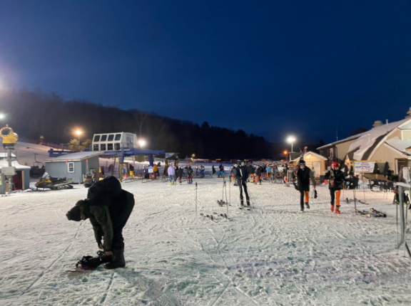 Staples ski team's first race commences after the long delay to the winter sports season.