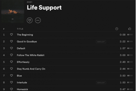 "Madison Beer's ""Life Support"" was released on Feb.26 and has a total of 17 songs."