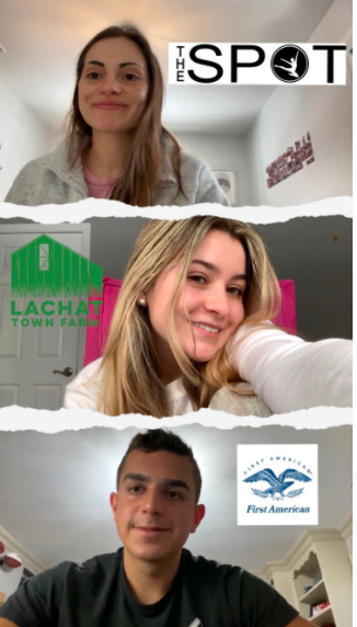 Despite COVID-19 restrictions and limited opportunities this year, the class of 2021 has a positive outlook on their spring internship plans. Annagrace McManus '21 and John Vincini '21 both feel lucky to be able to experience in-person internships.