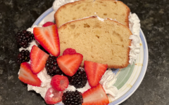 Pound cake with berries and whipped cream is the perfect dessert to share with friends and family on a beautiful spring day.