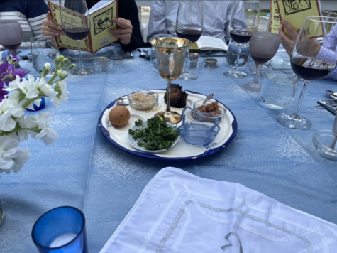 As the number of vaccinations continues to increase, many families felt it was safe to gather for a Passover seder. Some came together in-person, while others met through Zoom. There are many traditions that are celebrated during the seder, one being having a Seder plate like the one pictured above.