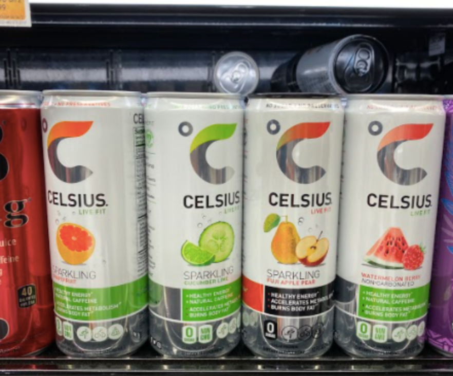 Celsius Energy drinks provide 200mg of caffeine and are commonly taken prior to workouts.