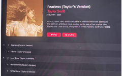 "Taylor Swift released ""Fearless"" (Taylor's Version) on April 9 of 2021. This is the first album to be re-released after her controversy with Big Machine Records over obtaining the rights to her music."